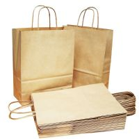 Brown Twisted Handle Party Gift Carrier Bags